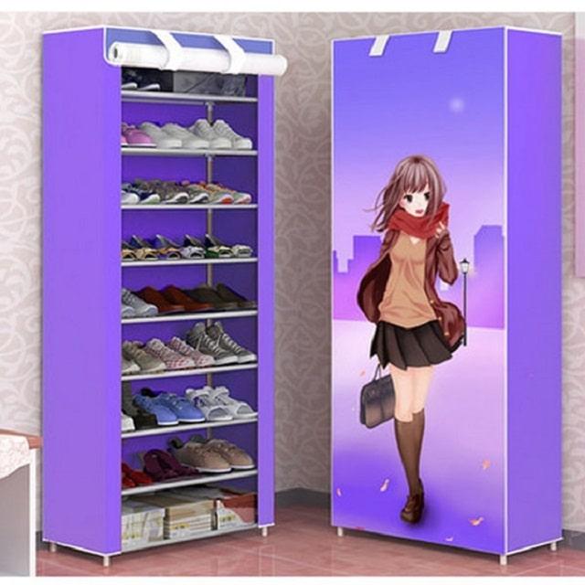 tủ đựng giày dép bằng vải (3)